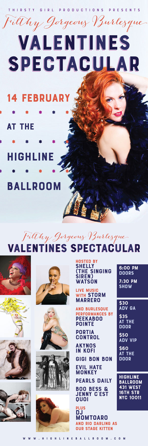 Filthy Gorgeous Valentine's Day Spectacular! @ Highline Ballroom | New York | New York | United States